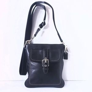 Vintage! Coach Black Leather Crossbody